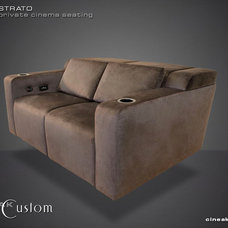 Modern Love Seats by Cineak Custom Home Theater Seats