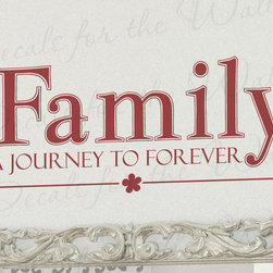 Decals for the Wall - Wall Decal Quote Sticker Vinyl Art Lettering Mural Family Journey to Forever F49 - This decal says ''Family, a journey to forever''