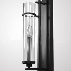 Modern Simple Iron Art and Clear Glass Wall Sconce -