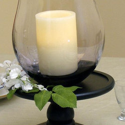 Home Decorators Collection - Bordeaux Flameless Hurricane Candle - Illuminating, intoxicating, and imitating the graceful curves of a stemless wine glass, this hurricane houses a flameless ivory wax candle that is dripless, pet safe, kid friendly, and waterproof. The battery-operated candle is designed with a timer that keeps it burning for four or eight hours, depending on the setting you select. Buy the hurricane candle for your home today. Flameless candle. Battery operated.