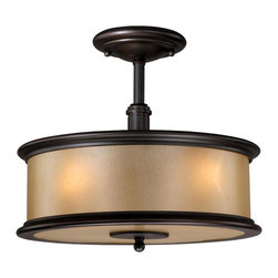 Vaxcel - Carlisle Noble Bronze Semi-Flush Mount - Vaxcel CR-CFU130NB Carlisle Noble Bronze Semi-Flush Mount