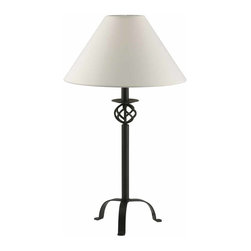"Renovators Supply - Table Lamps Black Wrought Iron Table Lamp 28"" H 