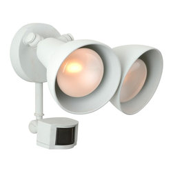 Craftmade - Covered Flood w Photo Cell & Motion Sensor (M - Finish: Matte WhiteBulb Type: A-Type/PAR. Max Watt: 2x100W. Extension: 11.0 in.. Backplate (Width x Height): 4.88 in. x 4.88 in.