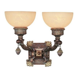 Trans Globe Lighting - Trans Globe Lighting 8531 Two Light Up Lighting Wall Sconce from the In the Medi - Two light up lighting wall sconce featuring marbleized glassRequires 2 60w Medium Base Bulb (Not Included)
