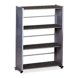 Mayline - Mayline Eastwinds 994 Storage Shelf - 32.5 x 12 x 44.5 - Steel - 4 x Shelf(ves) - Four-shelf bookcase is a part of the Mayline Eastwinds computer furniture collection that is designed for the technology-driven office and adaptable to a variety of environments. Perforated steel uprights feature a powder-coat finish. Fixed shelves are made of vacuum-formed thermofoil. Each shelf holds up to 45 lb. Bookcase design includes horizontal bars halfway between the shelves as backing.