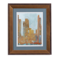 Bassett Mirror - Bassett Mirror Framed Under Glass Art, Urban Dawn I - Urban Dawn I