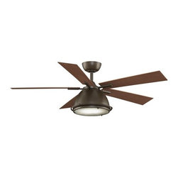 """Fanimation - Fanimation Breckenfield 52"""" 5 Blade Industrial Ceiling Fan - Blades, Light Kit, - Included Components:"""