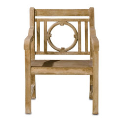Currey & Company - Leagrave Chair - Classic English garden design is the perfect companion to accompany the matching bench.