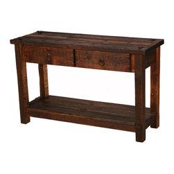 Rustic Heritage 2-Drawer Sofa Table - Rustic Heritage 2-Drawer Sofa Table - 55 lbs