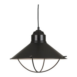 None - Olinda 1-light Bronze Pendant - Add a special touch to your dining space with this one-light incandescent pendant lamp fixture from Olinda. This downlight lantern-style fixture features an oil-rubbed bronze finish for added elegance. The light takes a single 150-watt bulb.