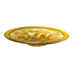Cyan Design - Catalan Plate - Large - Large catalan plate - amber