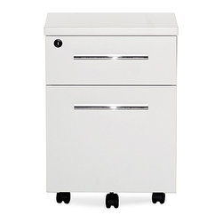 Jesper Office - Jesper Office | 500 Collection Mobile Pedestal - Create a serene and clutter-free desk top by storing important documents and office supplies in the 500 Collection Mobile Pedestal. This compact storage piece offers a utility drawer and a file drawer. The file drawer can accommodate legal or letter sized files while the locking casters make it easy to move the cabinet anywhere it's needed. The ideal partner for the 500 Collection Desk, The 500 Collection Mobile Pedestal provides convenient, mobile storage.Product Features:  Locking casters One utility drawer and one file drawer Accommodate legal or letter size file folders Ball baring runners Locking Mechanism Commercial grade Limited 5-Year Warranty Fully assembled