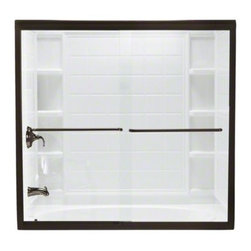 """STERLING PLUMBING - STERLING Finesse(TM) Frameless Sliding Bath Door - Height 58-1/16"""", Max. Opening - The Finesse Frameless Bath doors offer minimal metal framing around the glass to showcase the bathing enclosure."""
