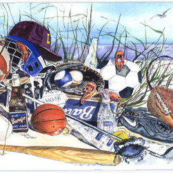 Caroline's Treasures - Sports On The Beach Glass Cutting Board Large Size - Large Cutting Board .. . Made of tempered glass, these unique cutting boards are some of your favorite artists prints. 15 inches high and 12 inches long, they will beautify and protect your counter top. Heat resistant, non skid feet, and virtually unbreakable!