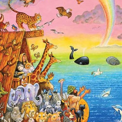 "Ark-full Animals Puzzle - 100 Piece Jigsaw PuzzleThis puzzle tells a familiar story by showing just a tiny corner of Noah's very large and busy ark. Full of rich colors and an ancient tale, this puzzle captures the wonder of so much life living peaceably together. Designed with the developmental and creative needs of young children in mind and made with the same quality and expertise you have come to expect from Springbok, our children's puzzles help children develop their fine motor skills and the ability to think logically, all while your children think they are ""just playing!"""