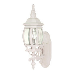 Nuvo Lighting - Nuvo Lighting 60/885 Single Light Up Lighting Outdoor Wall Sconce Centr - *Single light up lighting outdoor wall sconce featuring clear beveled glass