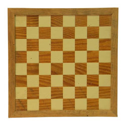 The Rusted Nail LLC - Checker/Chess Board - The king of strategy games since 1475, chess is a challenge for players of all ages — throughout the world and in your home. This impressive board, made of reclaimed pine, oak, poplar and treated to last for generations, is the perfect size to leave on display.