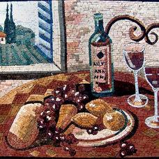 Mediterranean Artwork by NewZeugma Custom Luxury Mosaics and Iznik Tiles