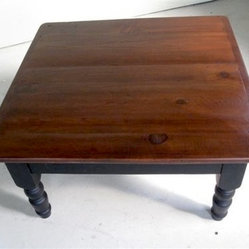 Barn Wood Coffee Table With Brown Cherry Finish