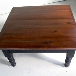 Barn Wood Coffee Table With Brown Cherry Finish - Made by http://www.ecustomfinishes.com