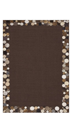 "Loloi Rugs - Loloi Rugs Timboroa/Hemingway Collection - Brown/Pebble, 3'-6"" x 5'-6"" - The Timboroa Collection evokes a sense of rugged adventure, along with a certain level of modern simplicity. Made in China of flat woven sisal and a hand stitched natural cowhide border, this versatile collection settles nicely in a cozy cabin setting, or adds a touch of southwestern appeal to any space."