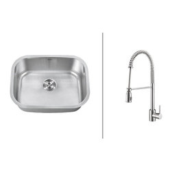 Ruvati - RVC2486 Stainless Steel Kitchen Sink and Polished Chrome Faucet Set - Ruvati sink and faucet combos are designed with you in mind. We have packaged one of our premium 16 gauge stainless steel sinks with one of our luxury faucets to give you the perfect combination of form and function.