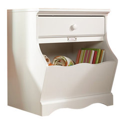 Sauder - Sauder Pogo Night Stand in Soft White - Sauder - Nightstands - 414433 - About The Sauder Pogo Collection: