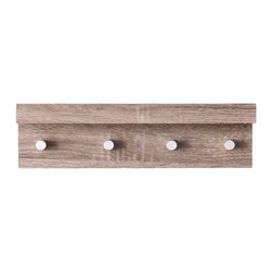 Henry Coat Rack - The Henry Dark Coat Rack with Ledge offers the perfect mix of rustic and contemporary, giving you a stylish place to hang your hat -- or coat, with a ledge on top for photos or mail.