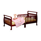 AFG Baby - AFG Baby Anna Toddler Bed in Cherry - The Anna Wooden Toddler Bed has beautifully finished hardwood and an elegant sleigh design. The bed is equipped with two guardrails to facilitate easy access and prevent your child from falling out.
