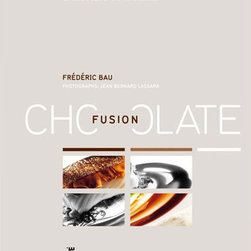 "Chocolate Fusion by Frederic Bau Hardcover Book -  English Edition - Over 150 color photographs by Jean Bernard LassaraForwords by Pierre Gagnaire and Pierre Herme.300 pagesColor illustrated Hardcover Publisher: Montagud Editores Language: EnglishEnglish Edition published in 2006 Format: 10.5 x 12.75"" (26 x 32 cm) ISBN: 978-84-7212-117-1Spanish and French Edition i also available upon request"