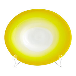 Cyan Design - Citrus Celebration Plate - Large - Large citrus celebration plate - yellow