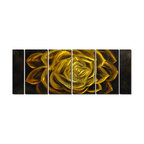 Pure Art - Nature's Emerald Flower Art Set of 6 - Layers of this enormously vivid rose unfold in this full-sized metal artwork full of electrifying lime green and voluptuous flower petals that overlap and unfold outward from the center. A classic rose goes contemporary in the size and scope of this artwork, it's unique chartreuse color an effective counterpoint to the monochromatic simplicity of many modern interiorsMade with top grade aluminum material and handcrafted with the use of special colors, it is a very appealing piece that sticks out with its genuine glow. Easy to hang and clean.