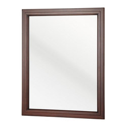Hayneedle - Foremost Auguste Bathroom Mirror - AUCNM2330 - Shop for Bathroom Mirrors from Hayneedle.com! No fussy filigree here -- the Foremost Auguste Bathroom Mirror features a slim clean design that s sure to freshen up your bathroom decor. The wood frame skinny and stylish is available in your choice of finish so it s easy to find that perfect match for your wall.Pre-attached mounting hooks make installation a breeze too. The design coordinates with Foremost s Auguste bathroom collection but it also makes a fashionable fit for an entryway bedroom or living space too.About Foremost Groups Inc.Established in 1988 based on simple strategies and principles Foremost remains dedicated to their mission of providing fashionable innovative designs and knowledgeable friendly customer service to their customers on a daily basis. Throughout the years Foremost has developed offices and distribution centers in the U.S. and Canada with four separate product divisions consisting of bathroom furniture indoor and outdoor furniture and even food service equipment. All of their products are proudly constructed with world class engineering and the best designs at an affordable price.