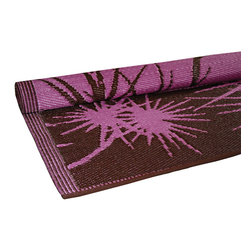 KOKO - Bamboo Floor Mat, Pink/Brown, 4' x 6' - This would be a great summer addition to a back patio. The exotic bamboo print paired with the all-weather material makes a brilliant combination. Anything that is high style and easy to clean is a no-brainer.