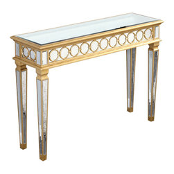 Elegant Lighting - Elegant Lighting MF4-4001GC Audrey Tables in Gold and Clear Mirror - This Table from the Audrey collection by Elegant Lighting will enhance your home with a perfect mix of form and function. The features include a Gold and Clear Mirror finish applied by experts. This item qualifies for free shipping!