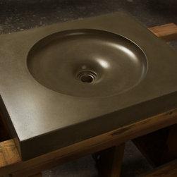 Charcoal Harrison Concrete Sink by Gore Design Co. - HARRISON SINK