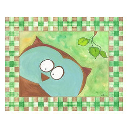 Oh How Cute Kids by Serena Bowman - Forest Friends - Owl, Ready To Hang Canvas Kid's Wall Decor, 11 X 14 - Every kid is unique and special in their own way so why shouldn't their wall decor be so as well! With our extensive selection of canvas wall art for kids, from princesses to spaceships and cowboys to travel girls, we'll help you find that perfect piece for your special one.  Or fill the entire room with our imaginative art, every canvas is part of a coordinating series, an easy way to provide a complete and unified look for any room.