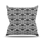 "Kess InHouse - Mydeas ""Illusion Damask Black & White"" Monochrome Throw Pillow (18"" x 18"") - Rest among the art you love. Transform your hang out room into a hip gallery, that's also comfortable. With this pillow you can create an environment that reflects your unique style. It's amazing what a throw pillow can do to complete a room. (Kess InHouse is not responsible for pillow fighting that may occur as the result of creative stimulation)."