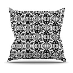 """Kess InHouse - Mydeas """"Illusion Damask Black & White"""" Monochrome Throw Pillow (20"""" x 20"""") - Rest among the art you love. Transform your hang out room into a hip gallery, that's also comfortable. With this pillow you can create an environment that reflects your unique style. It's amazing what a throw pillow can do to complete a room. (Kess InHouse is not responsible for pillow fighting that may occur as the result of creative stimulation)."""