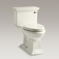 KOHLER - KOHLER Memoirs(R) Stately Comfort Height(R) one-piece elongated 1.28 gpf toilet - The sophistication of traditional design serves as the inspiration for the Memoirs collection. With its rich detailing, this suite of products echoes the stylized lines of historically renowned furniture and architectural design. Two styles offer differen