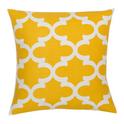 Look Here Jane, LLC - Fynn Yellow Pillow Cover - PILLOW COVER