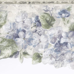 York Wallcoverings - Green Silver Blue Floral Wallpaper Border - Wallpaper borders bring color, character and detail to a room with exciting new look for your walls - easier and quicker then ever.