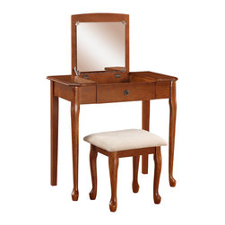 Linon - Ruby Vanity Set - Dimensions: 18 x 32 x 46.2 inches