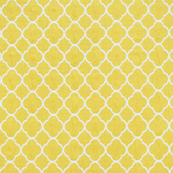 Geometric Lattice 5 Upholstery Fabric Yellow This Woven