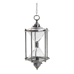 "Go Home Ltd - Go Home Ltd Hanging Hourglass Transitional Lantern Light X-95711 - Available with 25"" adjustable chain."
