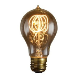Bulbrite - Nostalgic Edison Quad Loop Light Bulbs - 6 Bu - One pack of 6 Bulbs. Intricate filament design. Bright filaments for warm and amber glow. Excellent replica of antique light bulbs. 120V E26 base Victorian incandescent bulb type. Dimmable. Wattage: 40W. Average hours: 3000. Color rendering index: 100. 360 degrees beam spread. Color temperature: 2100k. Lumens: 118. Can be used as indoor and outdoor. Perfect accent for any antique decor. Ideal for chandeliers, sconces, and outdoor lighting, signage and displays. Maximum overall length: 4.5 in.Meticulously crafted to preserve the look of early 20th-century lighting, Bulbrite's Nostalgic Collection is the perfect complement to any vintage or contemporary decor.