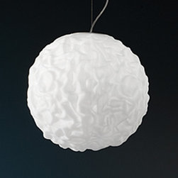 Emisfero 48s Pendant Lamp By Minitalux Lighting - Diffuse light suspension lamp. Diffuser in hand-blown triplex multi-layer white glass of irregular shape, with acid-etched finish. Diffuser holder in turned, threaded aluminium, matt white liquid enamel finish. Suspension with steel cable and 120 cm colourless plastic electrical cable. Lens-shaped ceiling plate, matt white liquid enamel finish. For more information and details on this Pendant Lamp please visit the store.