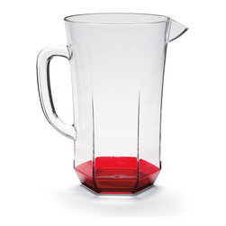 Frontgate - Kim Seybert Pitcher - Made from acrylic. The coral hue of the Kim Seybert Pitcher brings the taste of the tropics right to your backyard or beach house. This crystal clear acrylic drinkware features a beautiful coral accent..
