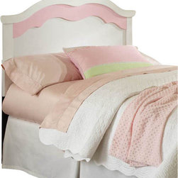 Standard Furniture - Standard Furniture Bubblegum Panel Headboard in White and Pink - Full - Bubblegum Bedroom is adorably cute and charmingly sweet, and is lavished with lots of girlie-girl details.