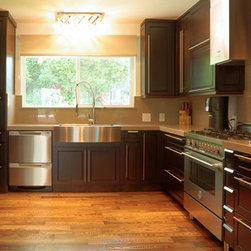 Kitchen Cabinetry - espresso shaker